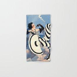 French Art Deco Woman Hand & Bath Towel