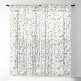 birds outside my window Sheer Curtain