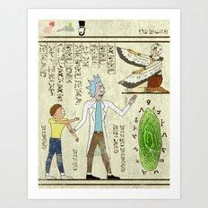 Hero-glyphics: Wubba Lubba Dub Dub Art Print
