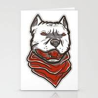 pitbull Stationery Cards featuring Pitbull by VentureDesign