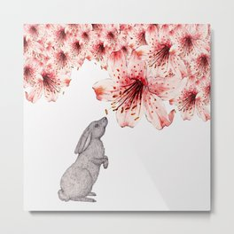 Smelling the Flowers Metal Print