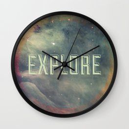 Explore III Wall Clock