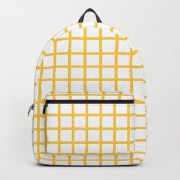 Grid (Orange & White Pattern) Backpack