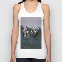 dancing Tank Tops featuring DANCING. by Mrs Araneae