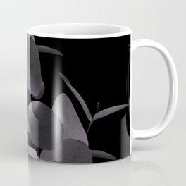 Eucalyptus Leaves Black Black #1 #foliage #decor #art #society6 Coffee Mug