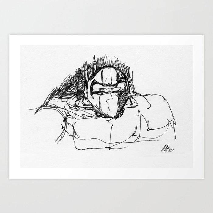 Warbot Sketch #029 Art Print