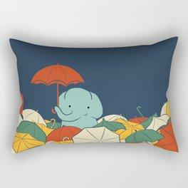 Umbrellaphant Rectangular Pillow