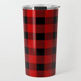 Buffalo Check - black / red Travel Mug