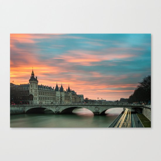 Paris by night France Canvas Print