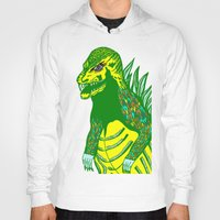 dino Hoodies featuring Dino by intermittentdreamscapes