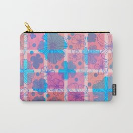 Drawing flowers in cubes Carry-All Pouch