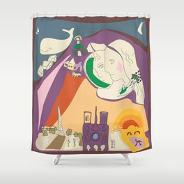 Chagall's Sunday with whale Shower Curtain