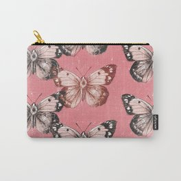 Butterfly - Red Carry-All Pouch
