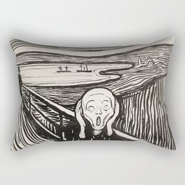 The Scream (1895) by Edvard Munch Rectangular Pillow