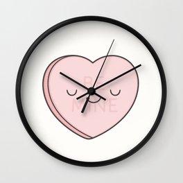 Pink Sweet Candy Heart Wall Clock