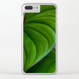 Homalomena II Clear iPhone Case