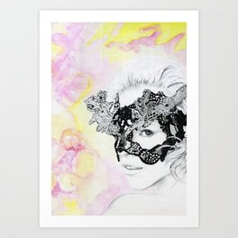 Lily - the leading lover Art Print