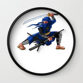 Ninja Anime Fans Ninjutsu Birthday Wall Clock