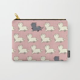 Proud cat pattern Pink Carry-All Pouch