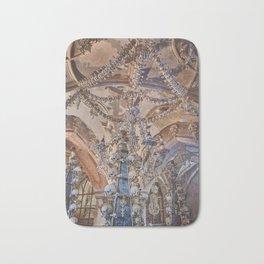 Sedlec Ossuary Interior Photo Art Print, Bone Church Bath Mat