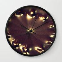 chocolate Wall Clocks featuring Chocolate by Irène Sneddon
