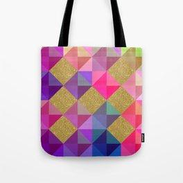 Colorfur squares pattern Tote Bag