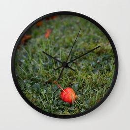 Autumn crab apple Wall Clock