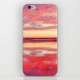 Purple silk iPhone Skin