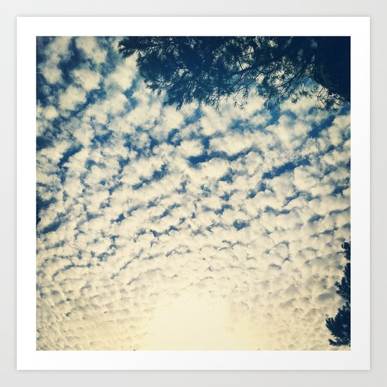 Clouds Effect Art Print