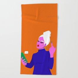 Be a lady bird Beach Towel