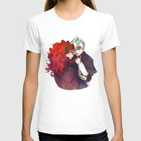 jack frost T-shirts featuring Jack Frost & Merida by Kiome-Yasha