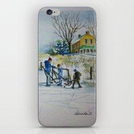 Hockey On The Pond iPhone Skin