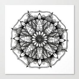 Flower Mandala Canvas Print
