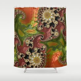 Psychedelic, abstract, multi-color, fractal, stunning detail art Shower Curtain
