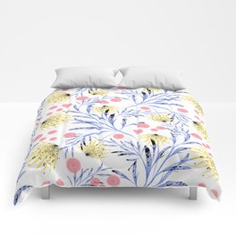 Abstract floral pattern. Comforters