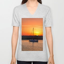 The End of a Great Day Unisex V-Neck