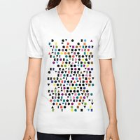 wallpaper V-neck T-shirts featuring Wallpaper #1 by Hovercraftdoggy