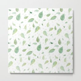 Spring Leaves Metal Print