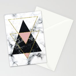 Geo glam marble Stationery Cards