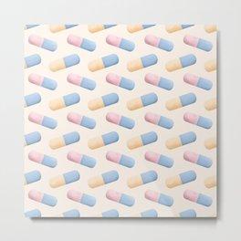 Medical Field Neck Gator Medication Pills Medical Professions Metal Print