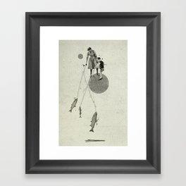 April | Collage Framed Art Print