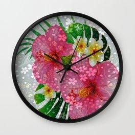 Tropical charm Wall Clock