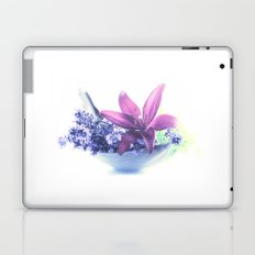 Summer flower pattern lilies and lavender Laptop & iPad Skin