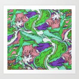 River crossing 2 Art Print