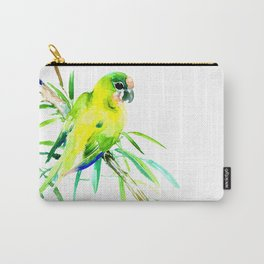 Green-Yellow Parrot, yellow green room design Carry-All Pouch