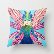 The modern tooth fairy Throw Pillow
