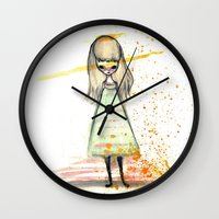 sister Wall Clocks featuring Sister by solocosmo