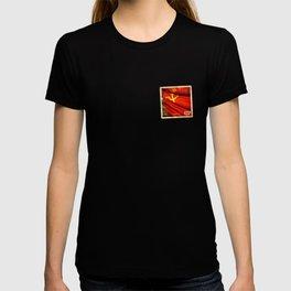 Sticker of Soviet Union (1922-1991) flag T-shirt