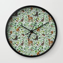 Woodland Animal Friends Wall Clock