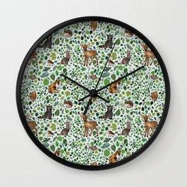 Woodland Animal Friends Wall Clock